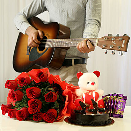 The Ultimate Musical Combo: Flowers & Guitarist Service