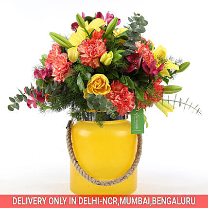 Carnations & Asiatic Lilies Arrangement:
