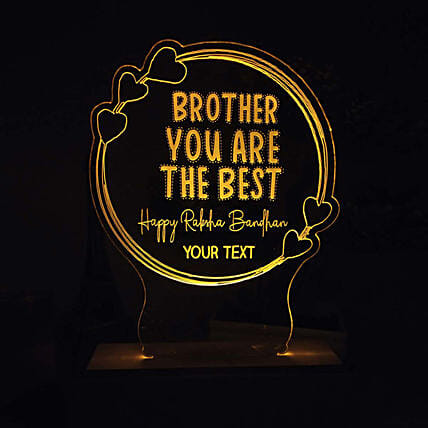 Personalised Night Lamp For Best Brother: