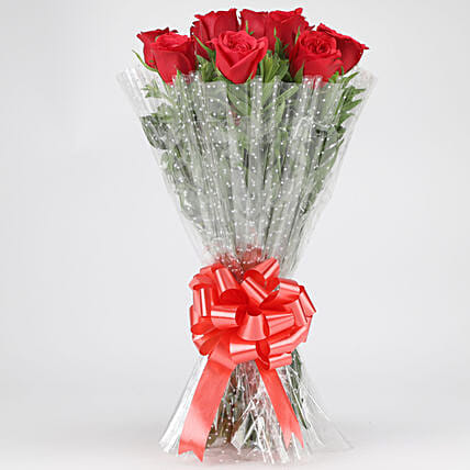 Classy Red Roses Bouquet: