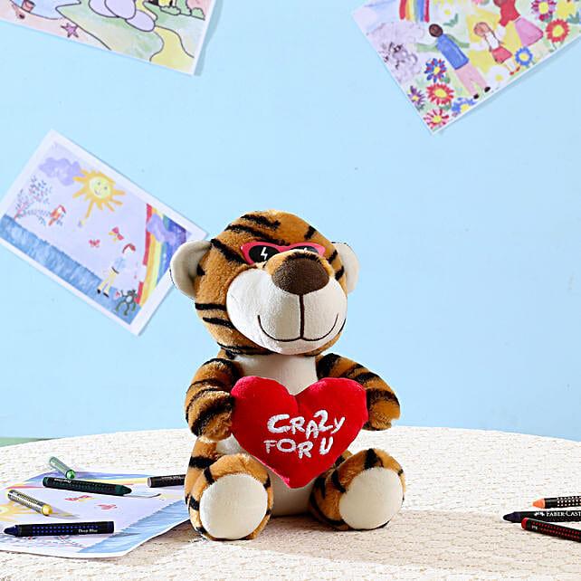 Brown Crazy For You Tiger: Send Soft Toys