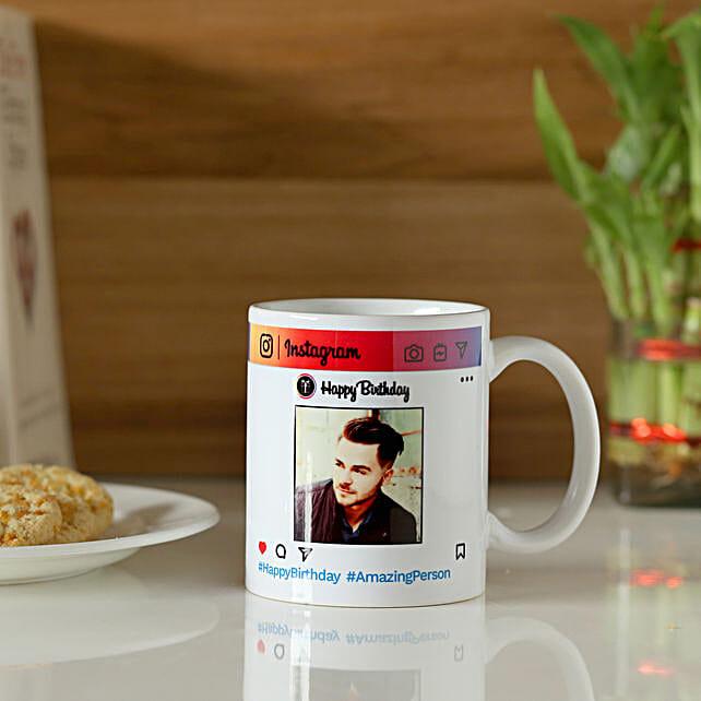 Personalised Instagram Birthday Mug: Personalised Mugs