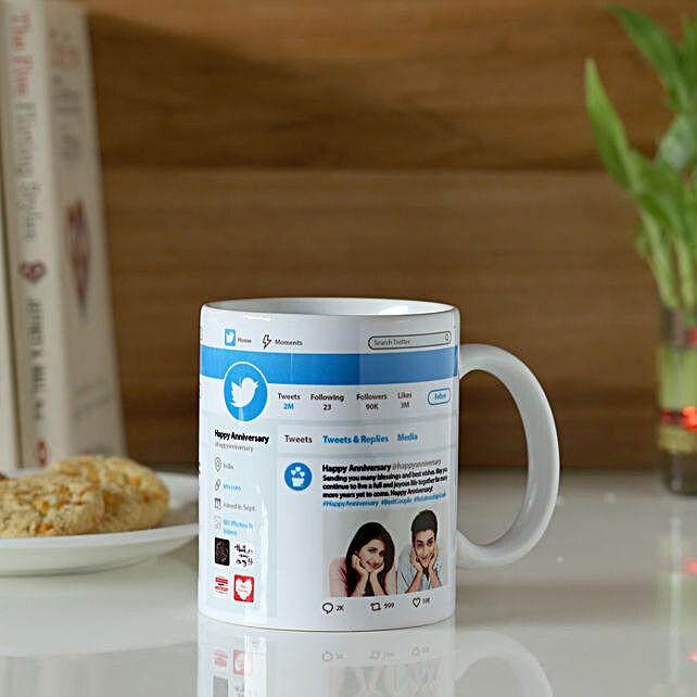 Personalised Twitter Wishes Mug: Custom Photo Coffee Mugs