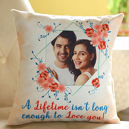 Lifetime Love Personalised Cushion: Karwa Chauth Gifts for Husband