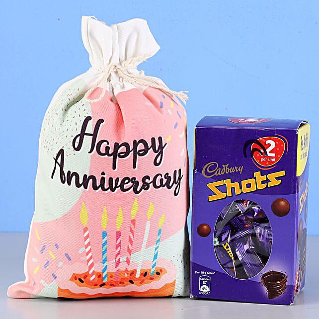 Cadbury Shots & Anniversary Gunny Bag: