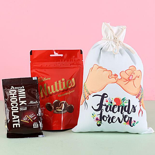 Friends Gunny Bag & Chocolates: Cadbury Chocolates