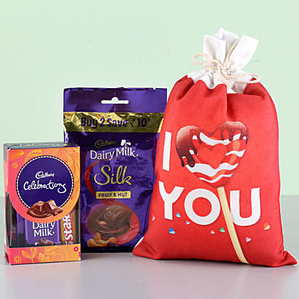 I Love You Cadbury Combo: Cadbury Chocolates