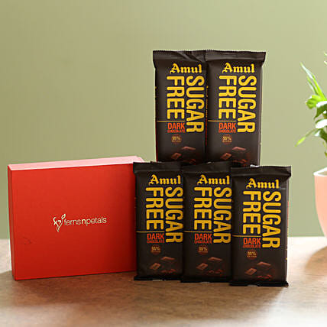 Box Of Sugar Free Amul Chocolates: Chocolate Day Gifts