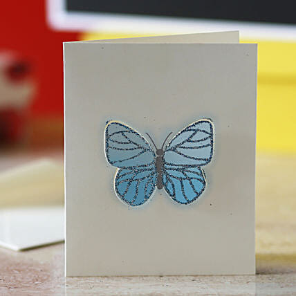 Blue Butterfly Greeting Card: Gifts for Daughters Day