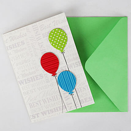 Happy Birthday Balloon Greeting Card: Just Because Gifts
