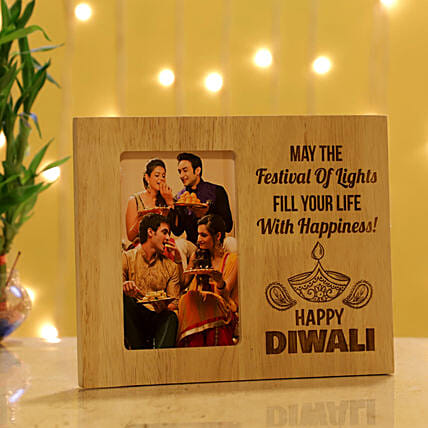 Happy Diwali Personalised Photo Frame: Personalized Diwali Gifts