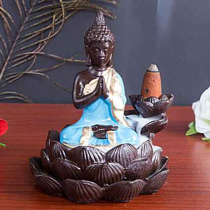 Lord Buddha Incense Burner Blue: Buddha Collection