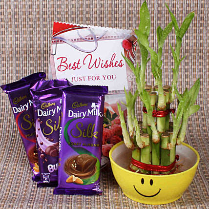 Best Wishes With Lucky Bamboo:
