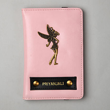 Personalised Baby Pink Passport Cover: