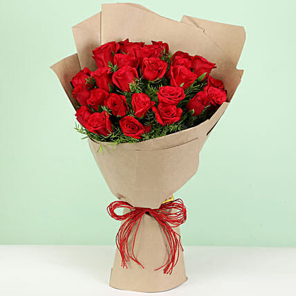 Beautiful 30 Red Roses Bouquet: Flower Delivery in Nandurbar