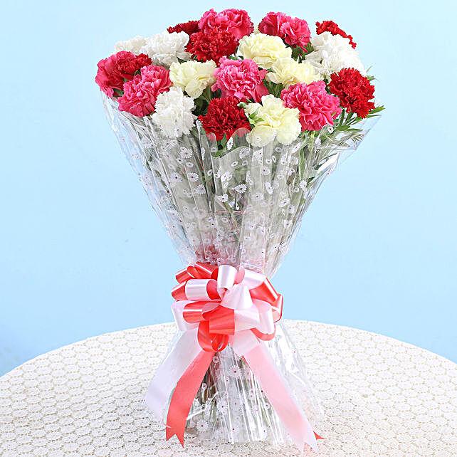 Vibrant Carnations Bouquet: Flower Bouquets
