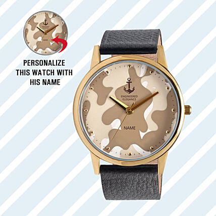 Personalised Camouflage Dial Watch For Him: Buy Watches
