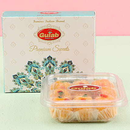 Kesar Coconut Laddu Box- 150 gms: Sweets Delivery