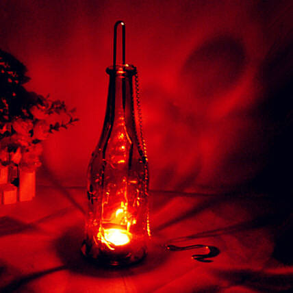 Bottle Lamp- Red: Unusual Gifts