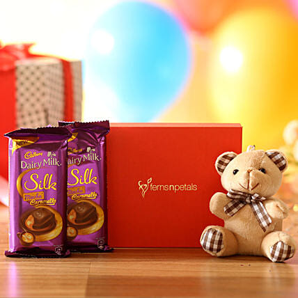 Cuddly Bear & Mocha Caramello Chocolate: