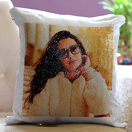 Personalised Magical Sequin Cushion For Her: Personalised Cushions