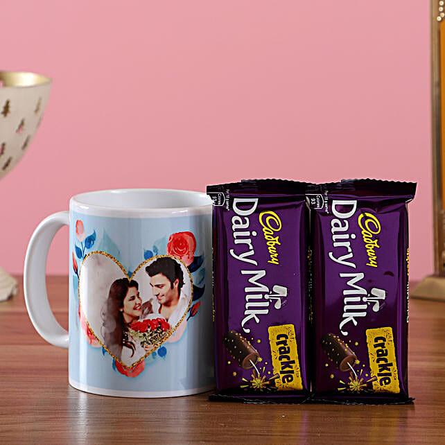 Personalised Mug & Dairy Milk Crackle Combo: Coffee Mugs