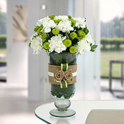White Carnations Arrangement: