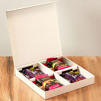 White FNP Box Of Chocolates: Hug Day Gifts