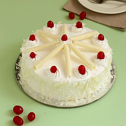 White Forest Cherry Cake: