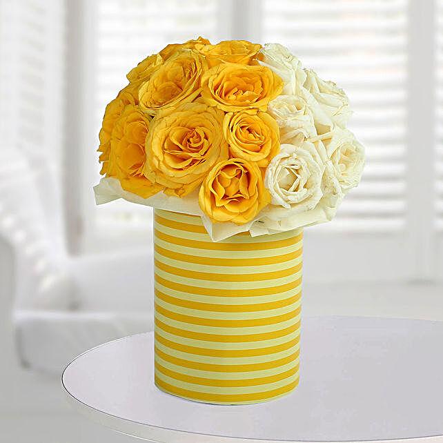 White N Bright Floral Arrangement: Vase Arrangements