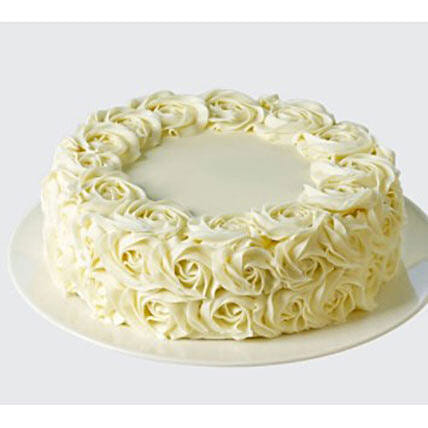 White Rose Cake: Send Designer Cakes