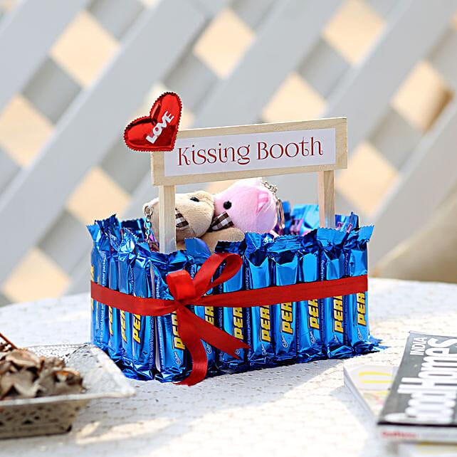 Wooden Kissing Booth With Perk Chocolates: Cadbury Chocolates