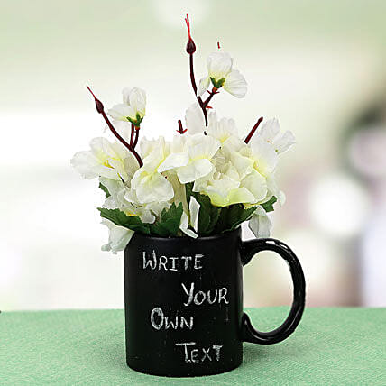 Your Words Mug and Plant: Friendship Day Personalised Mugs