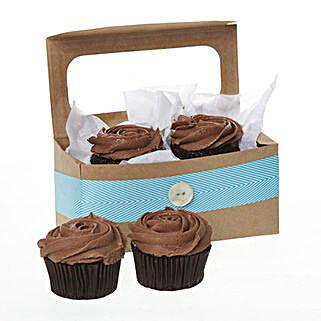 Petal Rich Chocolate Cupcakes