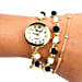 Black and White Pearl Watch For Women