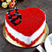 Red Velvet Heart Cake Half Kg Eggless