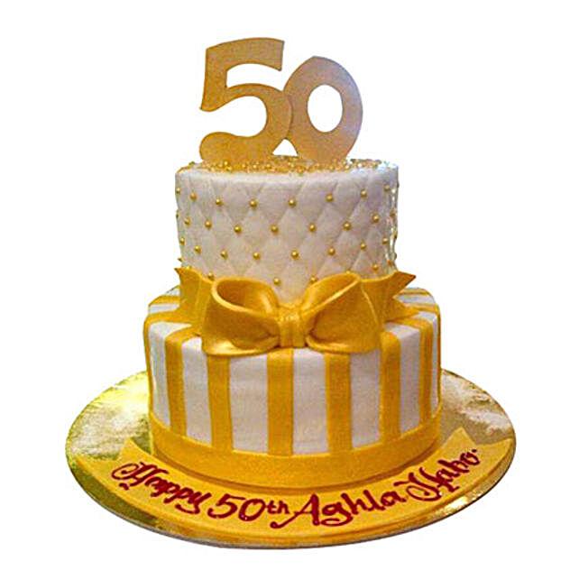 Gold Anniversary Cake: