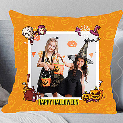 Halloween Mysterious Personalised Cushion: Send Halloween Gifts to UAE