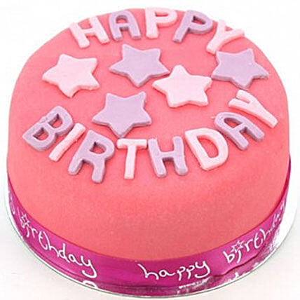 Happy Birthday Pink Cake Send Gift To London Gifts Delivery Ferns N Petals