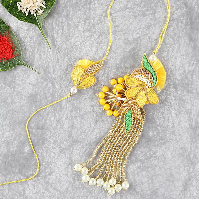 Bright And Beautiful Lumba Rakhi Set: