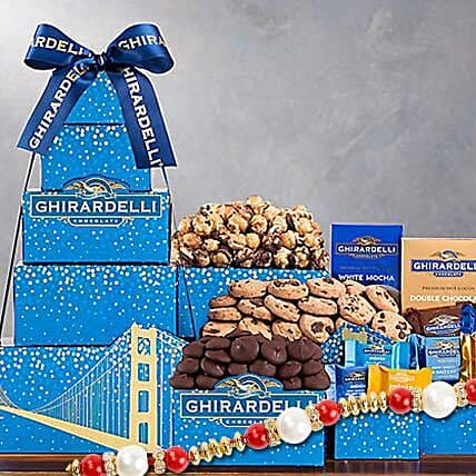Ghirardelli Chocolate Company Tower With Rakhi: Rakhi for Brother in USA