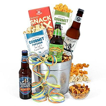 Beer And Snacks Hamper: