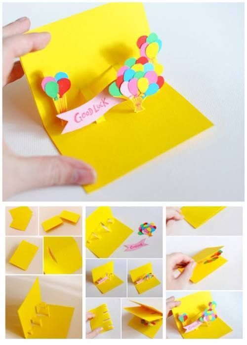 Pop Up Balloon Card - DIY