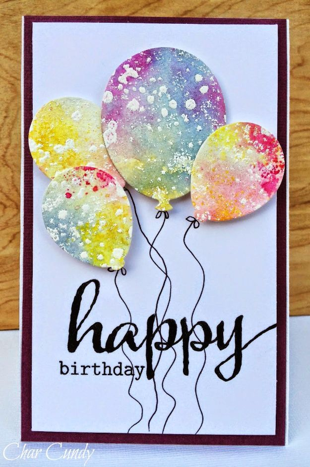 Water Color Birthday Card - DIY