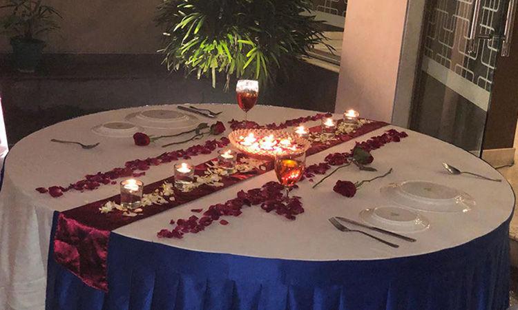 Romantic Waterfall Dinner