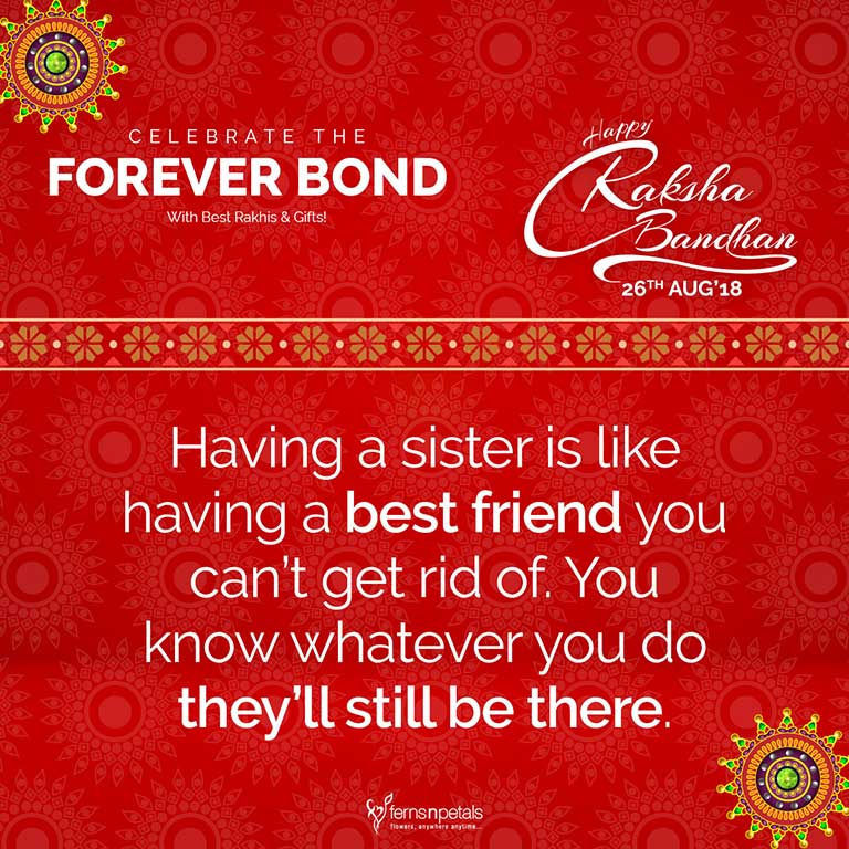 happy rakshabandhan quote sister