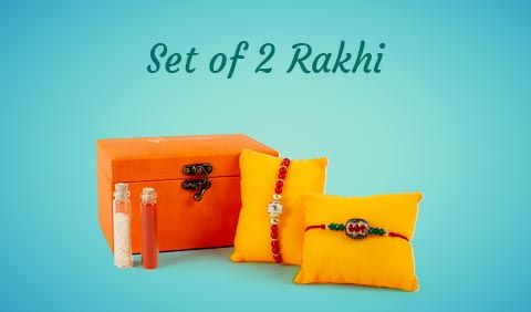 Set of 2 Rakhi to UK