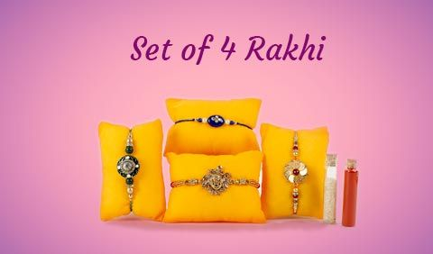 Set of 4 Rakhi to UK