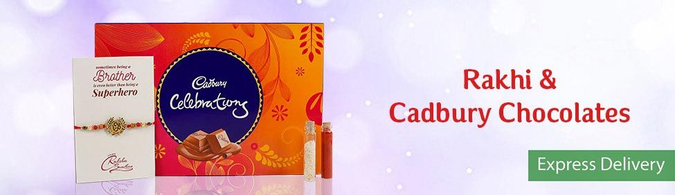 Rakhi with Cadbury Chocolates