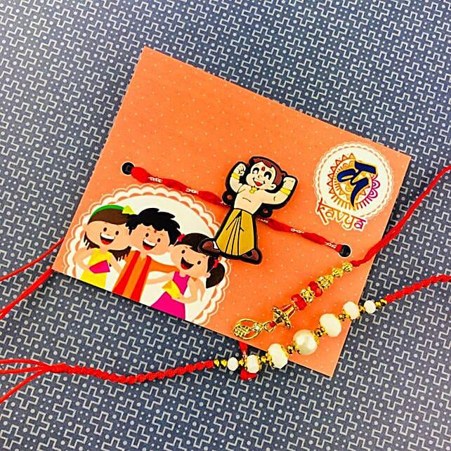 Bhaiya Bhabhi With Kids Rakhi Set